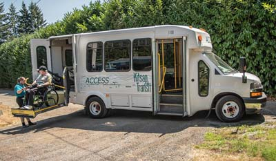 ACCESS coach with boarding rider