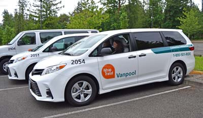 Vanpool Vans and Riders