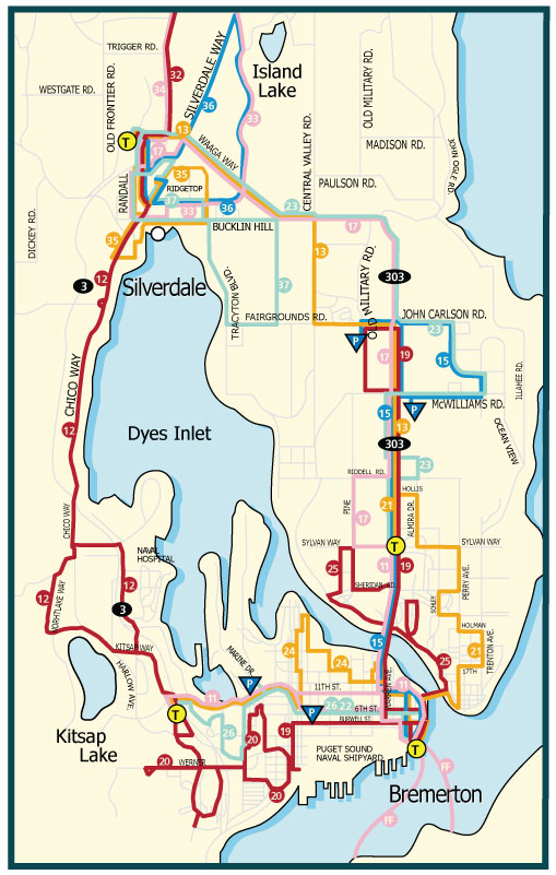 Central Kitsap System Map Kitsap Transit - Transit map