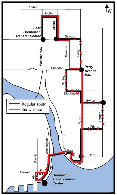 21 Perry Avenue Snow Route Kitsap Transit