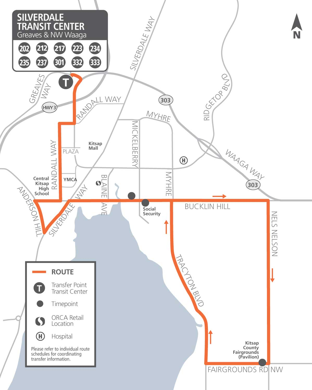 Route 237 map
