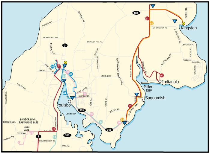 North Kitsap System Map Kitsap Transit