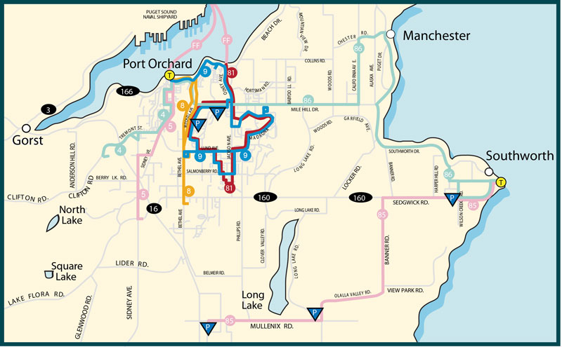 South Kitsap Route Map