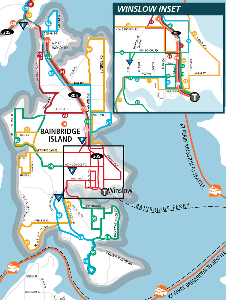 Bainbridge Island Route Map