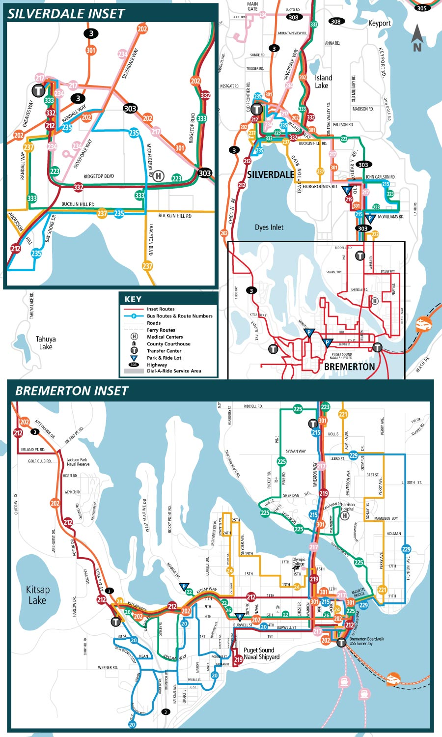 Central Kitsap Route Map