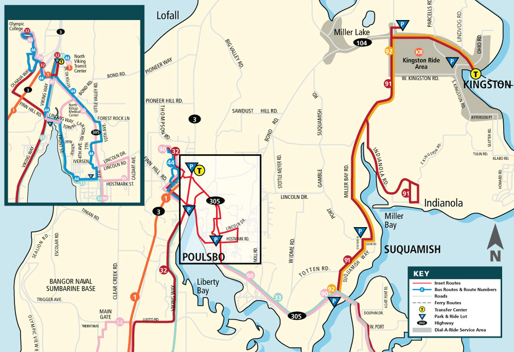 North Kitsap Route Map