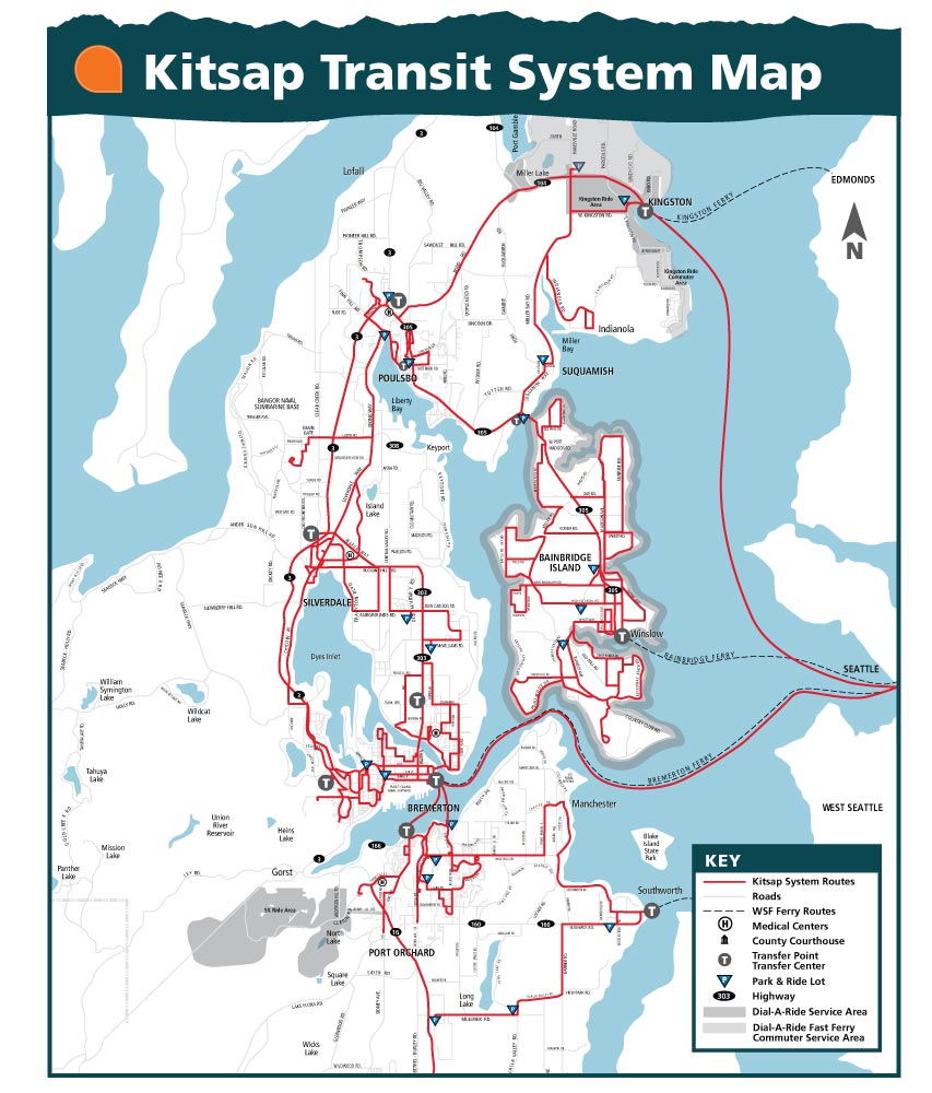 Kitsap Transit Red Line System Map