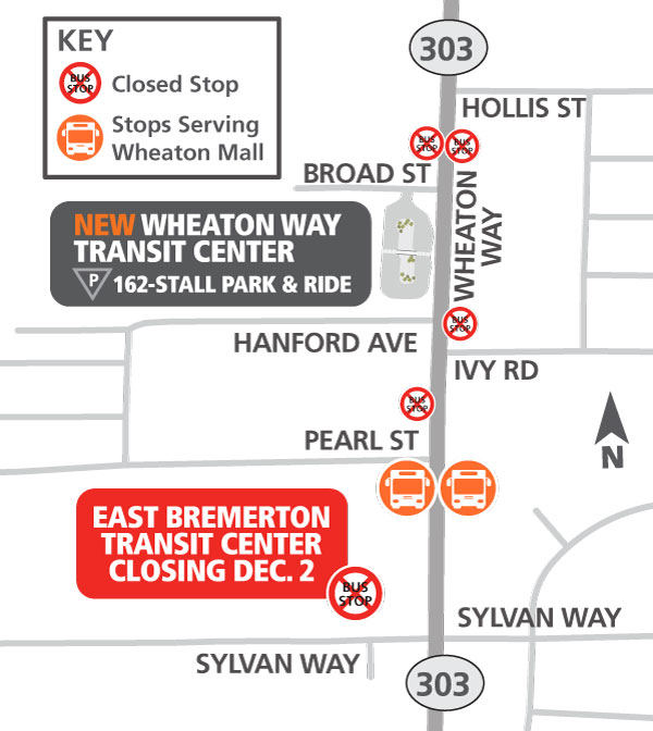 East Bremerton Transit Center Closing Dec 2