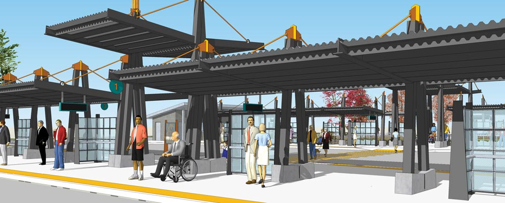 Wheatonway Transit Center Rendering