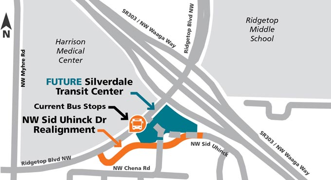 Silverdale Transit Center Future Location off Ridgetop