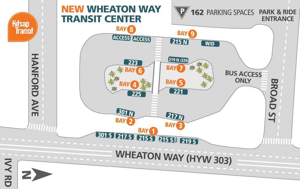 Wheaton Way Transit Center Map