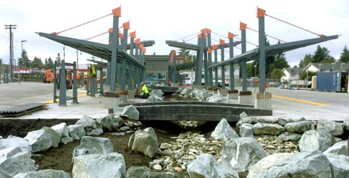 Wheaton Way Transit Center Construction